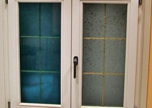 finestra laccata e vetri speciali