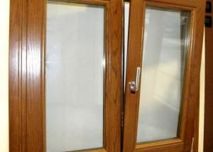 finestra in rovere lamellare