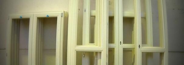 finestre in rovere laccate a poro aperto